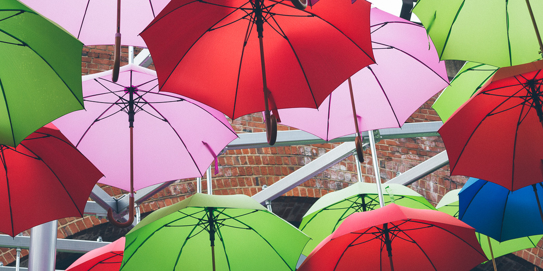 umbrellas borough market london photography