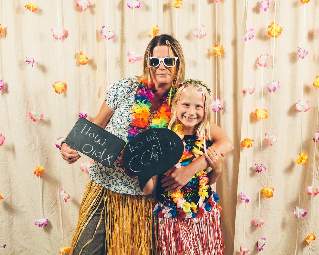 Kerrie Darren 40th Birthday Hawaii Photobooth Visual Guestbook