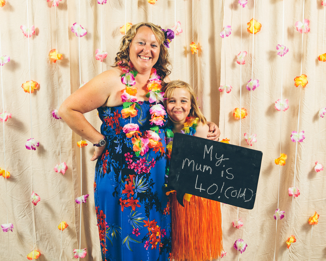 Kerrie Darren 40th Birthday Hawaii Photobooth Visual Guestbook